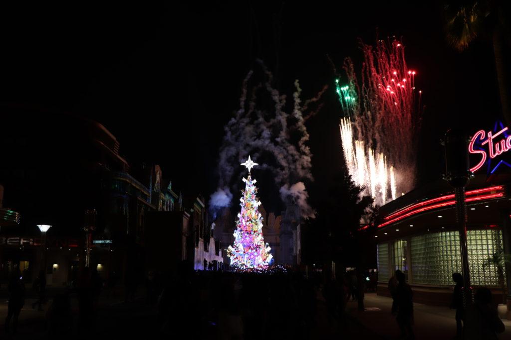 クリスマスツリー:フィナーレ(花火)